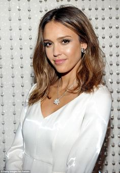 Newly engaged Rosie Huntington-Whiteley shines in a silk nightie as she is joined by chic Jessica Alba at event in LA | Daily Mail Online