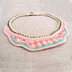 bib necklace in pastel colors ~ kjoo