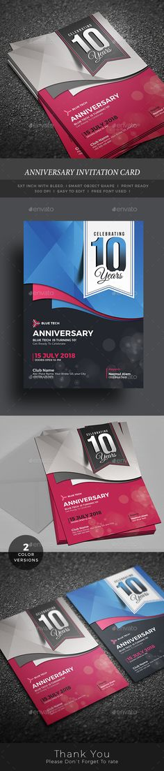 Anniversary Invitation Card - Anniversary Greeting Cards | Available https://graphicriver.net/item/anniversary-invitation-card/17225283?ref=themedevisers