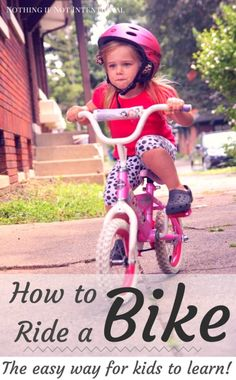 Teach a child how to ride a bike in ten minutes!
