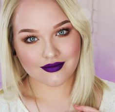 If you're over the standard holiday red-lipped look, this trendy purple lip tutorial from Nikkie Tutorials is a great alternative. #purple #lipstick #makeup