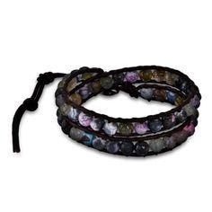 Chen Rai Earthy Pastel Beaded Wrap Bracelet $38
