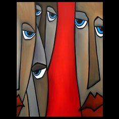 Ovunque Abstract originale dipinto moderno pop Art