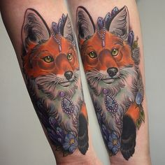 fox by georginatattoo