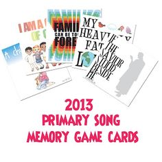 2013 primary song memory game cards