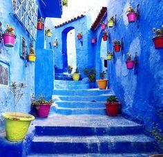 Chefchaouen, Morocco Via @beautifuldestinations