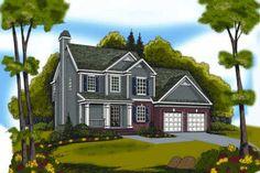 Craftsman Style House Plan - 3 Beds 2.5 Baths 1496 Sq/Ft Plan #419-122 Front Elevation - Houseplans.com