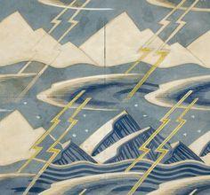 iconoclassic: goodmemory: irocellophane : Rockwell Kent (1882 - 1971) Quatre Éléments succession estampillé aquarelle sur papier