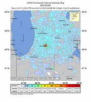According to the United States Geological Survey and the National Weather Service, the earthquake took place about five miles south of Galesburg at 12:23 p.m.