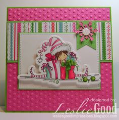 Ellie the Elf card by Leslie Good, image Stamping Bella