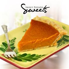 Sweet Potato Pie from the sweet potato capital of the world... Vardaman, Mississippi.