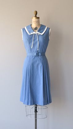 Nautical Season dress vintage 1960s dress sailor by DearGolden