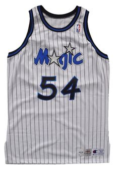 Game Worn/Issued Horace Grant Orlando Magic Jersey - 52