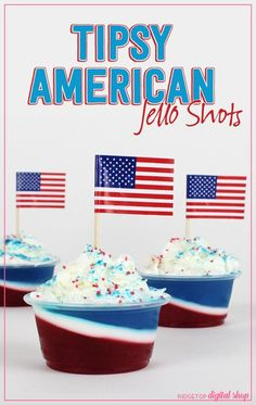 4th Of July Desserts, Fourth Of July Food, 4th Of July Celebration, 4th Of July Party, Patriotic Party, July 4th Jello Shots, Blue Jello Shots, Jelly Shots, Jello Shot Recipes