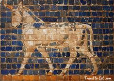 Auroch from the Ishtar Gate. Istanbul Archaeology Museum, Turkey