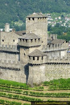 In fact this is Montebello Castle, Bellinzona, Ticino, Switzerland... http://www.castlesandmanorhouses.com/photos.htm ... The Three Castles of Bellinzona have been an UNESCO World Heritage Site since 2000.