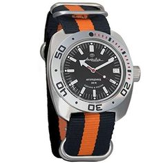 4037 Vostok Amphibian Automatic Mens WristWatch Self-winding Military Diver Amphibia Ministry Case Wrist Watch #710662