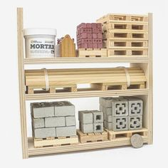 Whether you're framing a small house or crafting with the family, our miniature lumber and plywood is ready for your next project. All plywood and lumber are handmade in the United States. What will you build? Victorian Dollhouse, Modern Dollhouse, Dollhouse Dolls, Miniature Dolls, Miniature Houses, Gift For Architect, Wood Rack, Vintage Paper Dolls, Red Bricks
