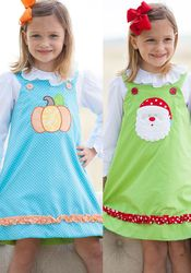 0f30cd811 Shrimp & Grits Kids - Embroidered Knit Dresses Bishop Baby Infant Girls  Monogram Traditional Southern Preppy Classic Toddler Inexpensive Affordable