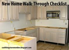 Cool Things to Remember: New Home Walk-Through Checklist