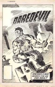Frank Miller Daredevil 191 Cover Comic Art
