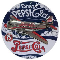 Pepsi Cola DC3 Embossed Sign Ande Rooney Embossed Tin Sign Collection utilizes lithograhed on tin process, this makes for a more detailed and inticate sign. The result is a reproduction novelty sign t