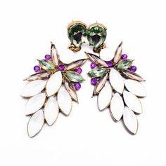Fashion Jewelry For Women  Charm Accessories Vintage Earring Multicolor Resins Flower Stud Earrings1116