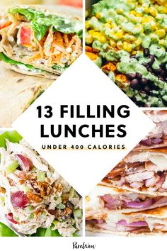 Here, 13 delicious brown-bag meals that contain fewer than 400 calories a serving. So you can treat yourself to some dessert, of course. #healthy #lunch #ideas