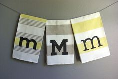 "DIY ""West Elm"" Monogram Towels (use freezer paper for your stencil)"