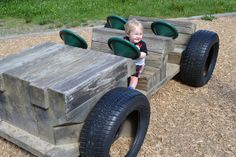 wooden car playground - Google Search
