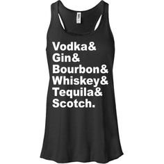 Different Liquor Alcohol Names Women's Tank Top Girly Cute Fashion... (50 AED) ❤ liked on Polyvore featuring tops, t-shirts, red, women's clothing, raglan-sleeved t-shirts, women tops, graphic tees, t shirts and short t shirt