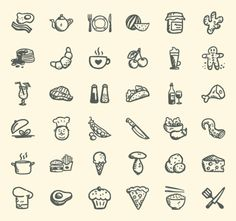 36 Free handdrawn Food Icons | Pixlov