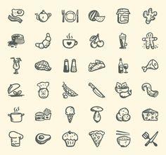 36 Free handdrawn Food Icons | Pixlov