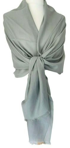 Beautiful grey pashmina wrap / scarf, excellent quality, made from organically certified Cotton yarn with lightly feathered fringing to the Pashmina Wrap, Cotton Scarf, Fair Trade, Lady, Scarf Wrap, Hand Weaving, Fashion Accessories, Free Uk, Outfits