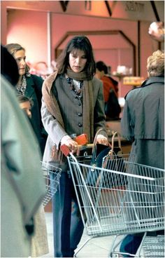Vintage photo of Princess Caroline of Monaco shopping in a supermarket | eBay