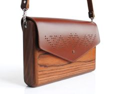 Lemnia Handcrafted Wooden Bag Azzurra by AtelierLemnia on Etsy