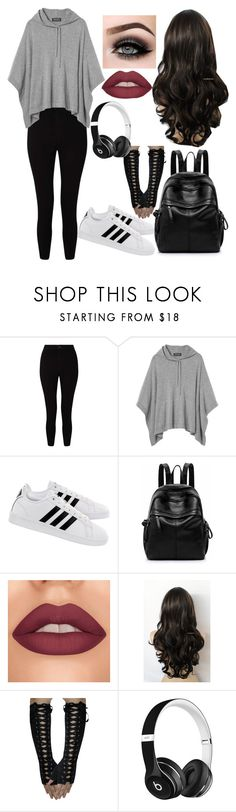"""""""Chilled Gamer Girl"""" by aimee-may-winchester-221b ❤ liked on Polyvore featuring Miss Selfridge, adidas, ASAP and Beats by Dr. Dre"""