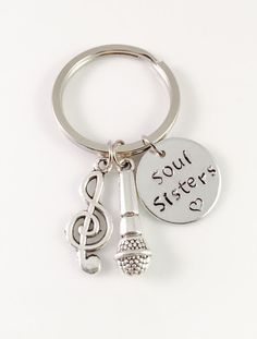 Hey, I found this really awesome Etsy listing at https://www.etsy.com/listing/480726059/music-keychain-soul-sisters-keychain