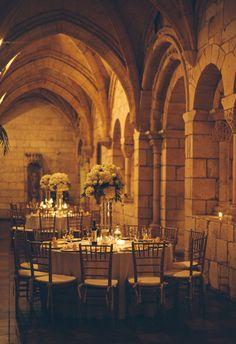 A Miami wedding photo taken at Ancient Spanish Monastery