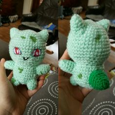 Tiny bulbasaur , pattern from #Studiocrafti on youtube! #pokemon #crochet #haken #amigurumi