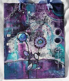 art journal. love the colors. blue and purple