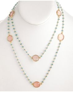 """Rivka Friedman """"Signature"""" 14K Over Silver 60.00 cttw. Gemstone 36in Necklace"""