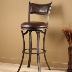 Jamerson 26 Swivel Bar Stool With Cushion