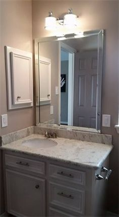 Beveled vanity mirrors installed in Katy and Houston, Texas by The Glass Guys of Fulshear.