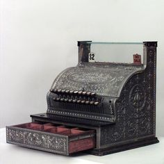 American Victorian antique adding machine silver-plated     .....rh possible altered project inspiration for kitchen? Want the country store look! need hanging vintage scale too would loook awesome with my coffee grinder!