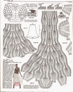Crochet Patterns Skirt Melissa Melina Crochet: Pineapple crochet skirts with free gridsInspirations Croche with Any Lucy: ExitMOA – hler h – Picasa NettalbumVeronica crochet y tricot. Crochet Skirt Pattern, Crochet Skirts, Crochet Motifs, Crochet Stitches Patterns, Crochet Chart, Crochet Clothes, Crochet Lace, Lace Patterns, Fashion Bubbles