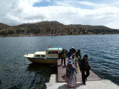 Arriving at San Pedro de Tiquina, Lake Titikaka, Bolivia