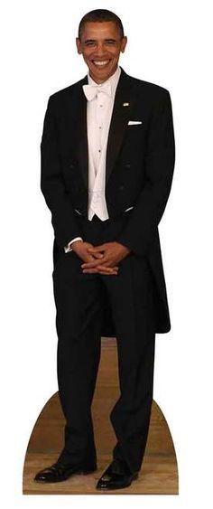 #44President #BarackObama wearing a Tuxedo Lifesize Cardboard Cutout. This cutout is great for Parties and Themed Events  #ObamaLegacy #ObamaHistory #ObamaLibrary #ObamaFoundation Obama.Org