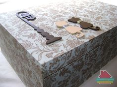 Caixa Organizadora de MDF revestida em tecido