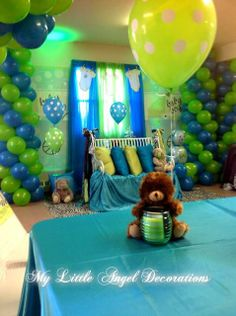 Green and blue baby shower #greenblue #shower